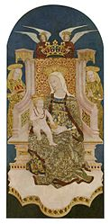 anonymous: Madonna and Christ Child Enthroned with Angels