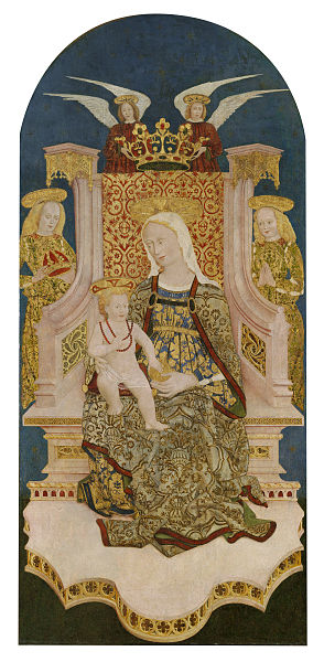 File:Madonna and Christ Child Enthroned with Angels by Unknown.jpg