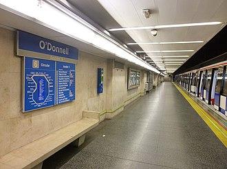 O'Donnell (Madrid Metro) - Image: Madrid Estación de Metro de O'Donell 1