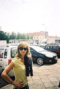 Magdalena Schejbal na planie serialu Kryminalni, 14 lipca 2007