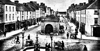 Roscrea - Main Street Roscrea in the 1890s