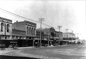 Cleburne, Texas - Main Street in Cleburne in the 1910s