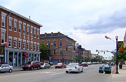 Circleville's Main Street and the mysterious diameter measure