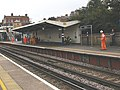 Maintaining the CCTV at Charlton station - geograph.org.uk - 1469142.jpg