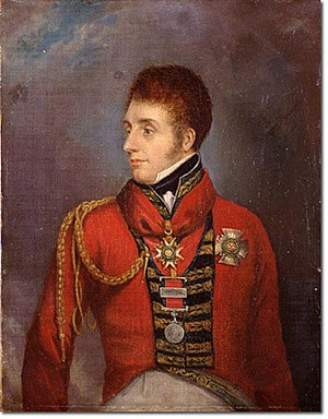 William Ponsonby (British Army officer) - Portrait engraving published in 1817