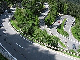 Maloja Pass - Maloja Pass road