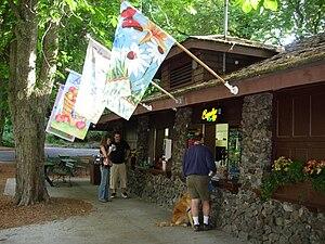 Manito Park and Botanical Gardens - Manito Park Bench Cafe June, 2007.