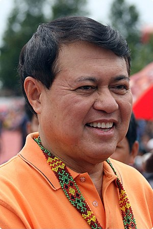 President pro tempore of the Senate of the Philippines - Image: Manny Villar T'nalak Festival 2009