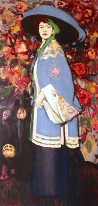 John Duncan Fergusson - Le Manteau chinois, 1909