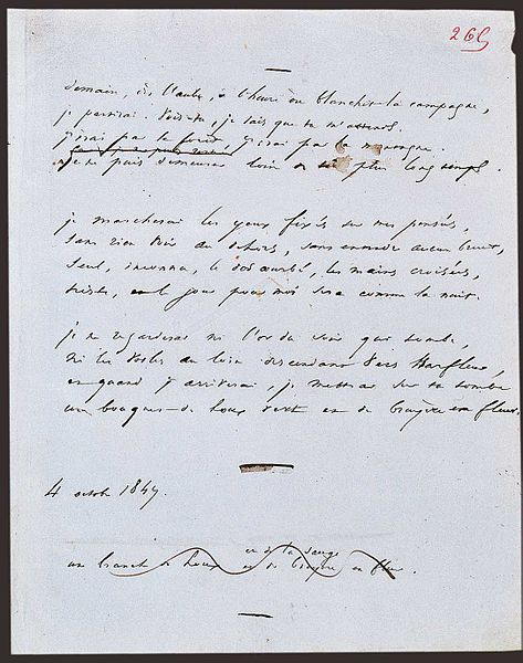Filemanuscrit Demain Dès Laube Jpg Wikimedia Commons