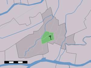 Hoornaar - Image: Map NL Giessenlanden Hoornaar