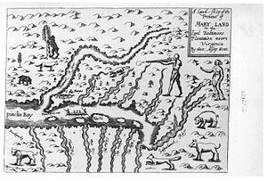 Whiskey Bottom Road - 1666 view of Maryland waterways