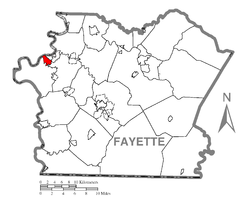 Location of Hiller in Fayette County