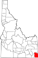 Map of Idaho highlighting Bear Lake County.svg