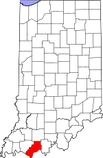Map of Indiana highlighting Spencer County.svg