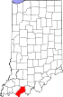 State map highlighting Spencer County