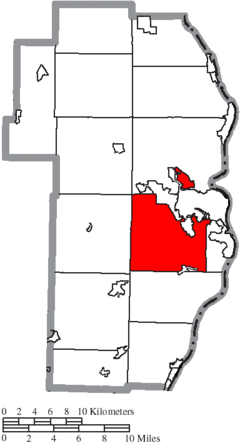 Location of Cross Creek Township in Jefferson County