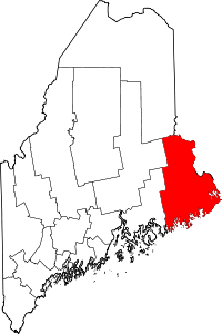 Map of Maine highlighting Washington County.svg