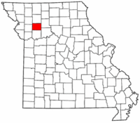 Map of Missouri highlighting Caldwell County.png