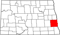 Map of North Dakota highlighting Cass County.svg
