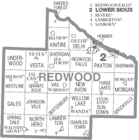 Cities and townships of Redwood County