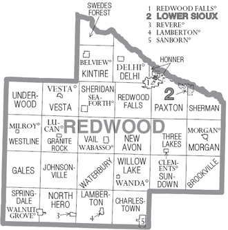 Redwood County, Minnesota - Cities and townships of Redwood County
