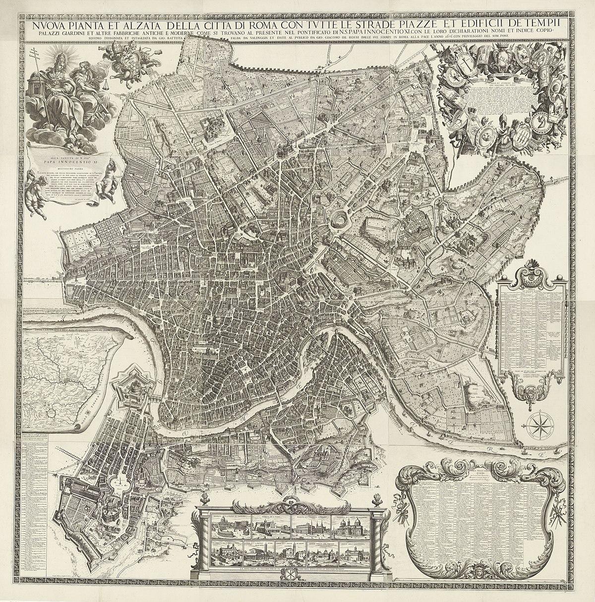 Giardini Per Case Moderne file:map of rome giovanni battista falda 1676 rijksmuseum