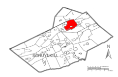 Map of Schulykill County, Pennsylvania Highlighting Mahanoy Township.PNG