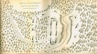 St. Clair's Defeat - Image: Map of St. Clair's Encampment
