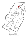 Map of Tyrone, Blair County, Pennsylvania Highlighted.png