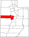 State map highlighting Juab County