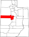 Map of Utah highlighting Juab County.svg