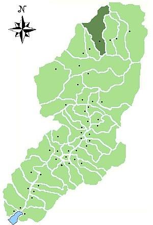 Vezza d'Oglio - Location of Vezza d'Oglio in Val Camonica