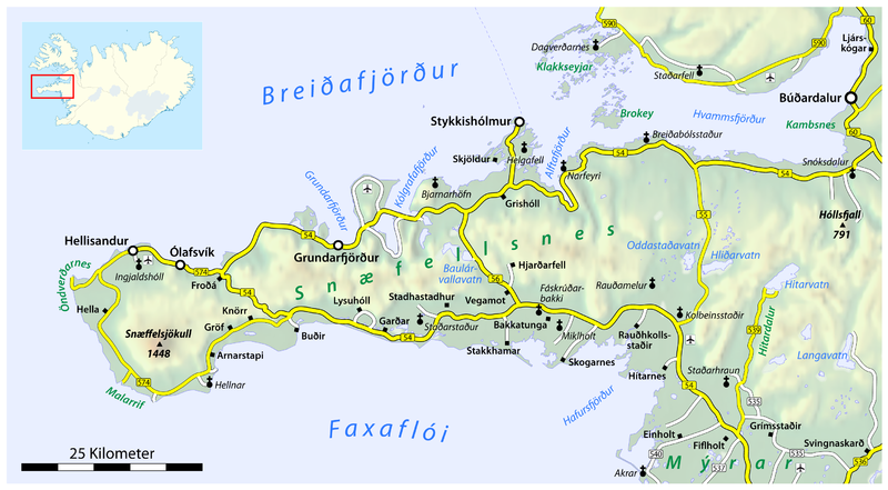 Mynd:Map of the Snæfellsnes peninsula.png