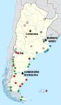 Mapa de Argentina con todos los destinos de LADE (ACTUAL).png