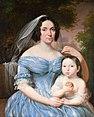 Marcin Jabłoński - Julia Gérard de Festenburg z córką Karoliną.jpg