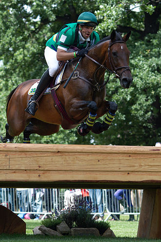Brazil at the 2012 Summer Olympics - Márcio Jorge riding Josephine during the cross-country phase of the eventing