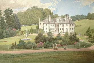 Woldingham - Painting of Marden Park Manor Surrey, about 1869