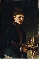 Maria Wunsch - Selbstbildnis an der Staffelei - 6207 - Österreichische Galerie Belvedere.jpg