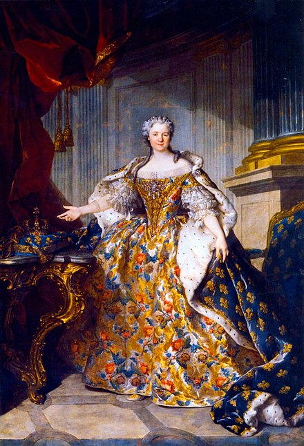 1740 portrait by Louis Tocque Marie Leszczynska, Queen of France - Louis Tocque.jpg