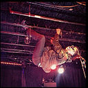 Mark Mallman hanging upside down in the 7th street entry.jpg
