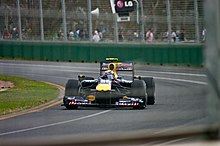Photo de la Red Bull RB6 de Webber à Melbourne