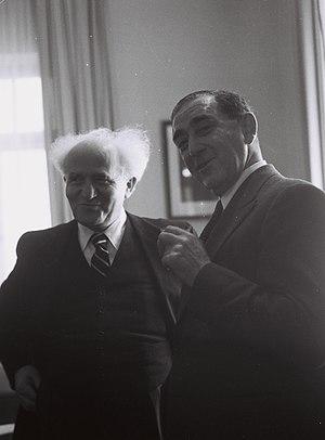 Simon Marks, 1st Baron Marks of Broughton - Sir Simon Marks with David Ben-Gurion in Tel Aviv, 1949