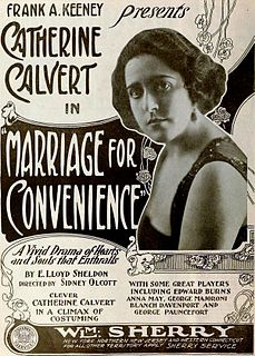 <i>Marriage for Convenience</i>