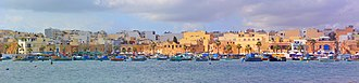 Marsaxlokk - Panoramic view of the Marsaxlokk harbour