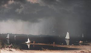 Martin Johnson Heade -Thunder Storm on Narraga...