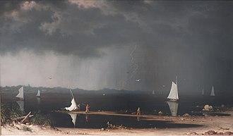 Luminism (American art style) - Martin Johnson Heade, Thunder Storm on Narragansett Bay, 1868