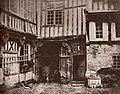 Marville, Charles - Das Haus in der Rue de la Tannerie in Abbeville, in dem 1540 Franz I. residierte (Zeno Fotografie).jpg