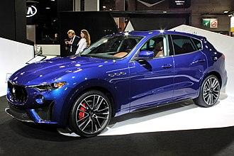 Maserati Levante - Image: Maserati Levante Trofeo, Paris Motor Show 2018, IMG 0663