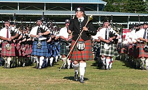 Highland games - Image: Massed Bands, 2005 Pacific Northwest Highland Games